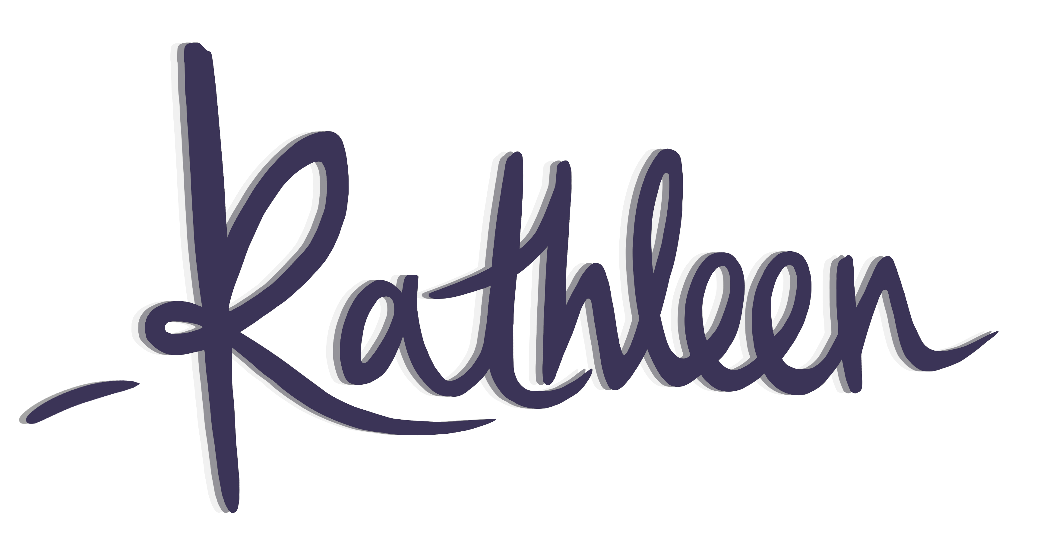 kathleen signature with dash